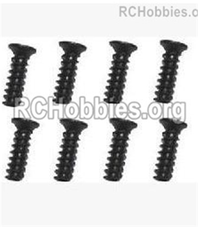 Subotech BG1525 Flat Head Screws  Parts。 2.6X10KB. WLS010. Total 8pcs.